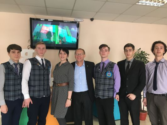 Meeting with students of the mathematical class